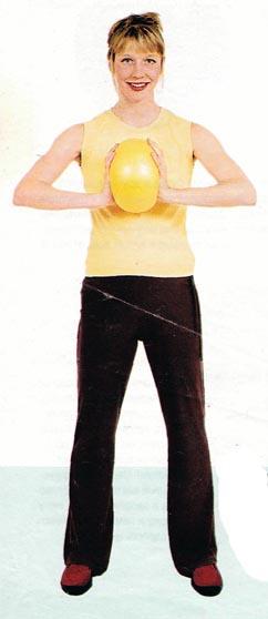 Упражнения с мячом для беременных